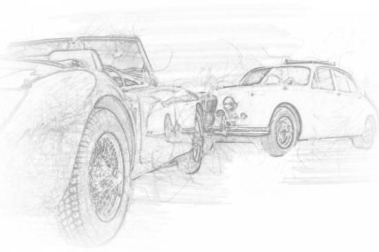 Skizze Jaguar